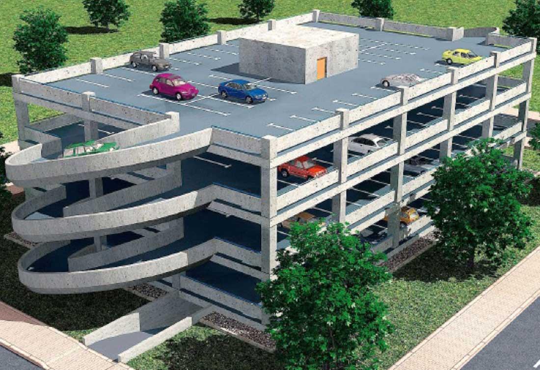 Projet de parking à étage Montant mis à jour